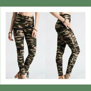 Pants - Available now!! 🔥 CAMO lace up leggings!!